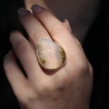 XL Calico Mountain Sagenite Agate Ring Image