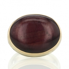 Smooth Oval Star Ruby Ring Image