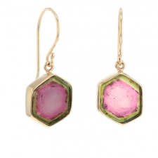Unique Watermelon Tourmaline Earrings Image