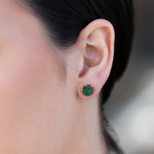 Uvarovite Gold Post Earrings Image
