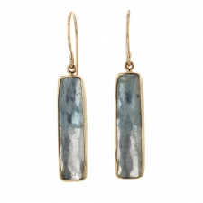Aquamarine Rectangular Earrings Image