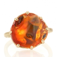 All Gold Fire Opal Ring Image