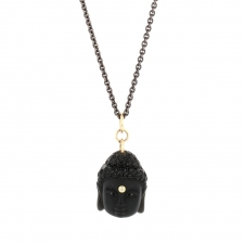 Long Obsidian Buddha Necklace Image