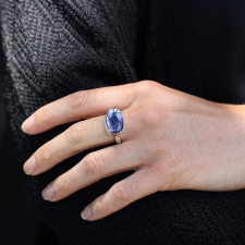 Rose Cut Iolite Ring Image