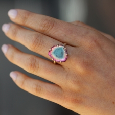 Watermelon Tourmaline Prong Ring Image
