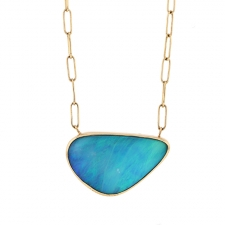 Australian Opal Gold Chain Necklace Image