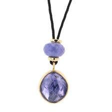 Tanzanite Skinny Nylon Cord Necklace