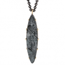 Marquise Surface Hematite Long Necklace Image