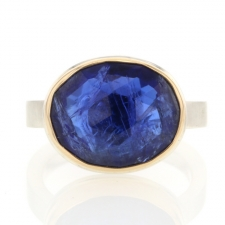 Oval Rose Cut Tanzanite Ring