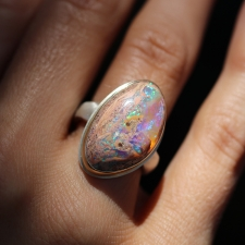 Mexican Fire Opal Vertical Ring Image