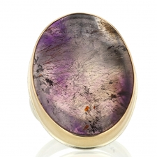 Seven Mineral Silver and Gold Vertical Ring Image