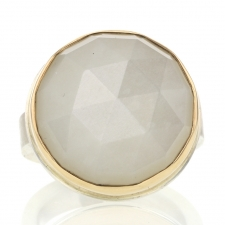 Round White Moonstone Ring Image