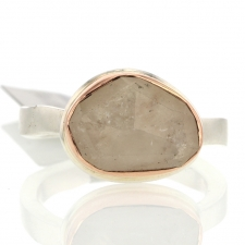Small Random Faceted Linen Sapphire Rose Gold Ring Image