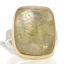 Vertical Golden Rutiliated Quartz Ring Image