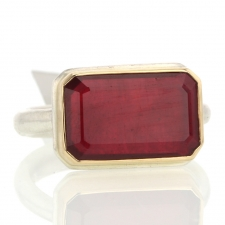 Rectangular African Ruby Ring Image
