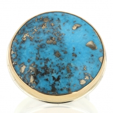 XL Round Persian Turquoise Ring Image