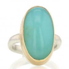 Vertical Open Back Peruvian Opal Ring Image