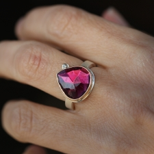 Rhodolite Garnet and Diamond Ring Image