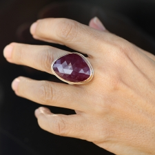 Asymmetrical Indian Ruby Ring Image