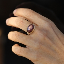 Oval Star Ruby Ring Image