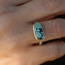 Small Asymmetrical Turquoise Ring Image