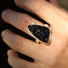 Andradite and Diamond Ring Image