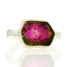 Watermelon Tourmaline Slice Ring Image