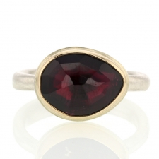 Small Faceted Rhodolite Garnet Ring Image