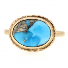Persian Turquoise and Pyrite Ring Image