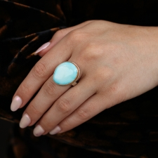 Candelaria Hills Turquoise Silver and Gold Ring Image