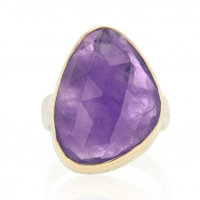 Vertical Rose Cut Amethyst Ring Image