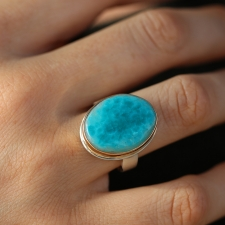Gem Silica Silver and Gold Ring Image