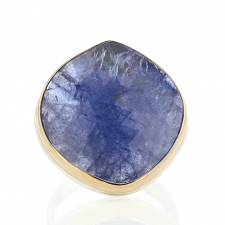 Large Tanzanite Silver and Gold Ring Image