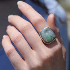 Australian Black Opal Open Backed Ring Image