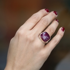 Rose Cut Indian Ruby Ring Image
