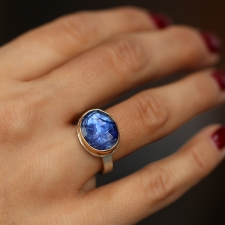 Oval Rose Cut Tanzanite Ring Image