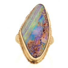 All Gold Opalized Wood Ring Image