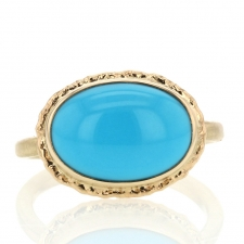 All Gold Sleeping Beauty Turquoise Ring