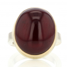 Vertical Smooth African Ruby Ring Image