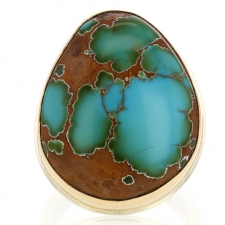 Pilot Mountain Turquoise Asymmetrical Ring Image