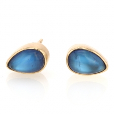 Rainbow Moonstone Teardrop Post Earrings Image
