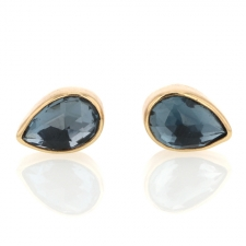 London Blue Topaz Teardrop Stud Earrings Image