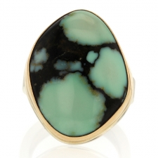 Variscite Silver and Gold Ring