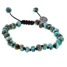 Arizona Turquoise 7mm Faceted Bracelet Image