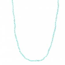 Long Aquamarine Faceted Necklace Image