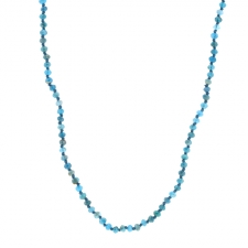 Long Apatite Faceted Necklace Image