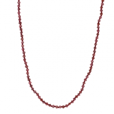 Long Red Garnet Faceted Necklace Image