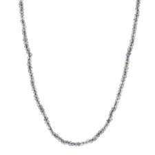 Long Labradorite Faceted Necklace Image