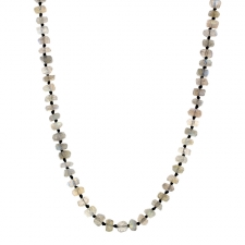 Long Labradorite 6mm Faceted Necklace Image