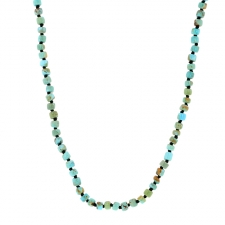 Turquoise Long Beaded Necklace Image